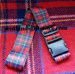 SCOTLAND ROYAL STEWART TARTAN LUGGAGE STRAP - scotlandsgiftstore.co.uk