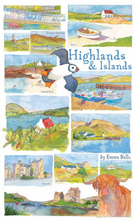 EMMA BALL HIGHLANDS & ISLANDS GIFT TUBE JIGSAW - scotlandsgiftstore.co.uk