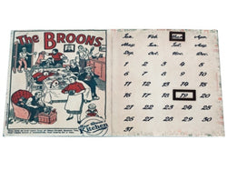MAW BROON RED RETRO MAGNETIC CALENDAR - scotlandsgiftstore.co.uk
