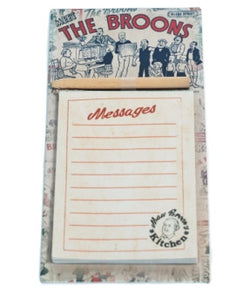 MAW BROON RED RETRO MAGNETIC MEMO PAD - Scotland's Gift Store  - 1