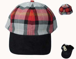 OOR WULLIE TARTAN BASEBALL CAP - scotlandsgiftstore.co.uk