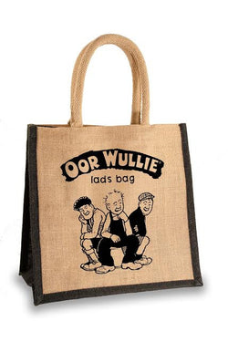 OOR WULLIE LADS BAG JUTE SHOPPER - scotlandsgiftstore.co.uk