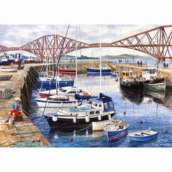 QUEENSFERRY HARBOUR 1000PC JIGSAW - scotlandsgiftstore.co.uk