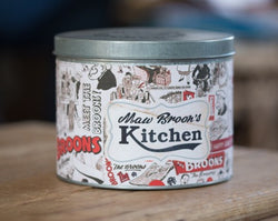 MAW BROONS RED RETRO TIN CONTAINER - scotlandsgiftstore.co.uk
