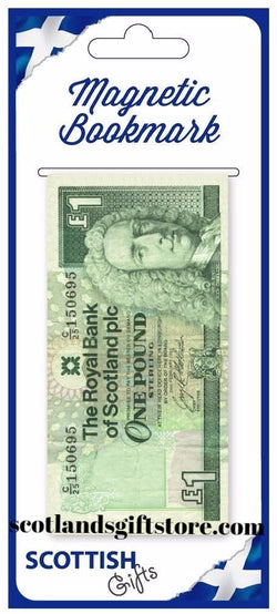 MAGNETIC BOOKMARK - SCOTLAND ONE POUND NOTE - scotlandsgiftstore.co.uk