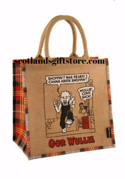 "OOR WULLIE "" NAE FEAR"" JUTE SHOPPING BAG - scotlandsgiftstore.co.uk"