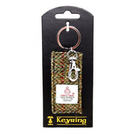 HARRIS TWEED FABRIC KEYRING - WINDOW TWEED - scotlandsgiftstore.co.uk
