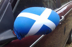 SCOTLAND SALTIRE CAR MIRROR SOCKS / COVERS