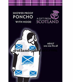 SCOTTISH SALTIRE RAIN PONCHO - scotlandsgiftstore.co.uk
