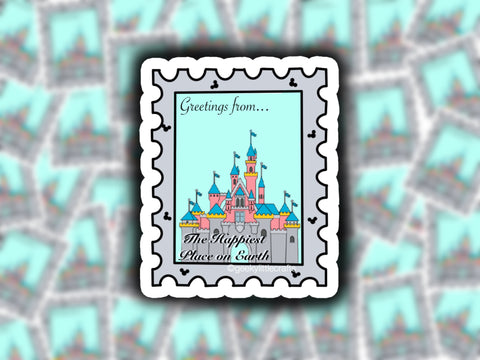 Greetings From... Postage Sticker Glossy