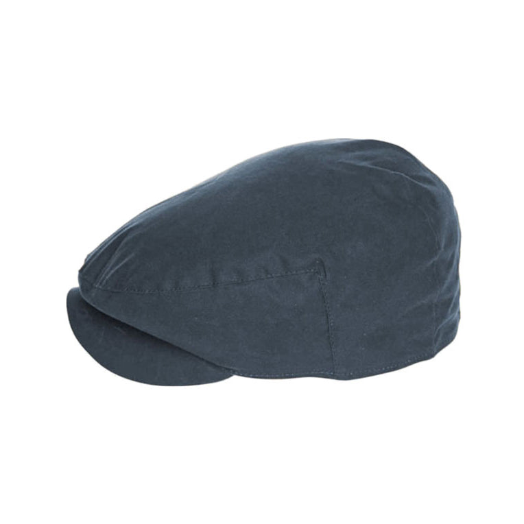 Barbour Cheviot Tartan Flat Cap Navy