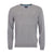 Barbour Essential Lambswool V Neck Sweater Grey Marl