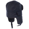 Barbour Fleece Lined Wax Trapper Hat Navy