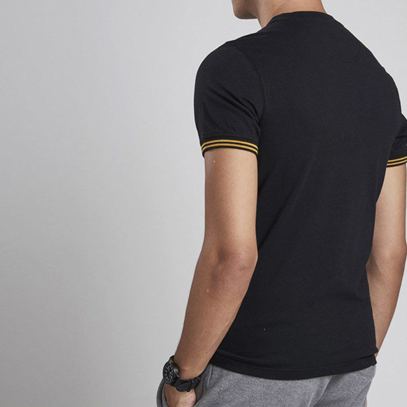 Barbour International Cable Tipped T-Shirt Black