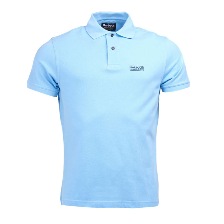 Barbour International Essential Polo Shirt Ice Blue