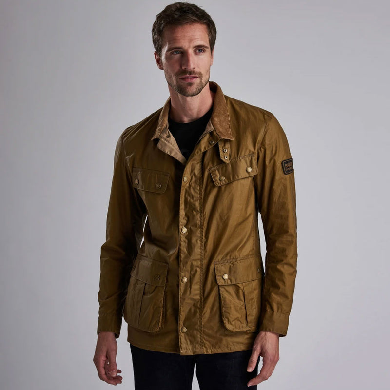 Barbour International Lightweight Duke Waxed Jacket Sand