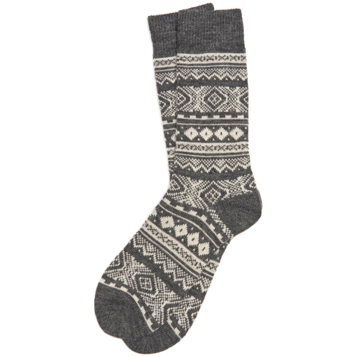 Barbour Onso Fairisle Socks Grey