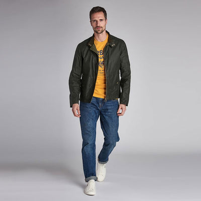 Barbour International Steve McQueen Johnida Waxed Jacket Olive