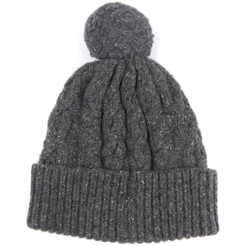 Barbour Seaton Pom Pom Beanie Grey