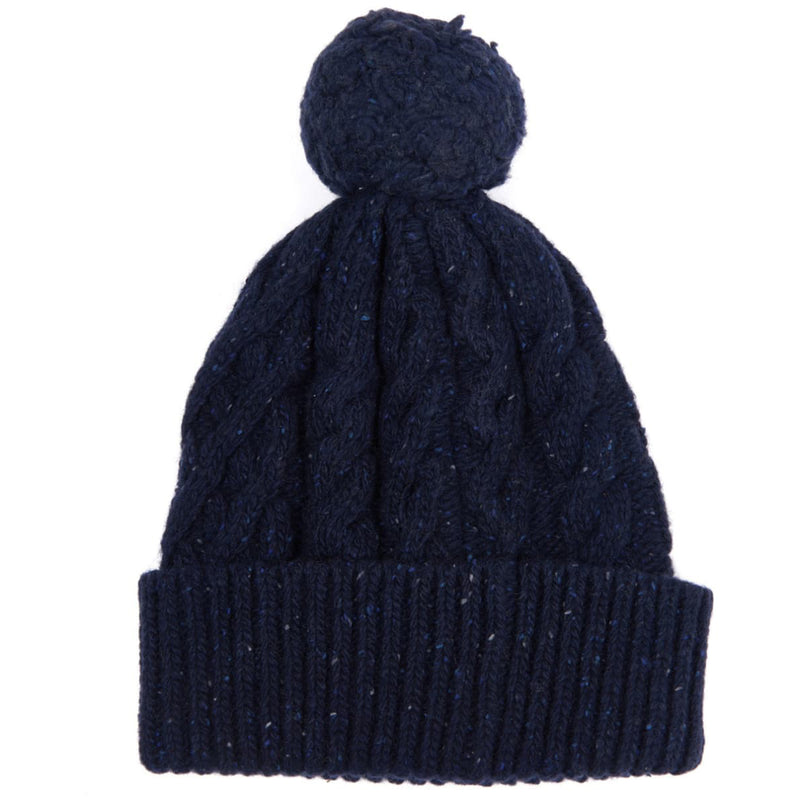 Barbour Seaton Pom Pom Beanie Navy