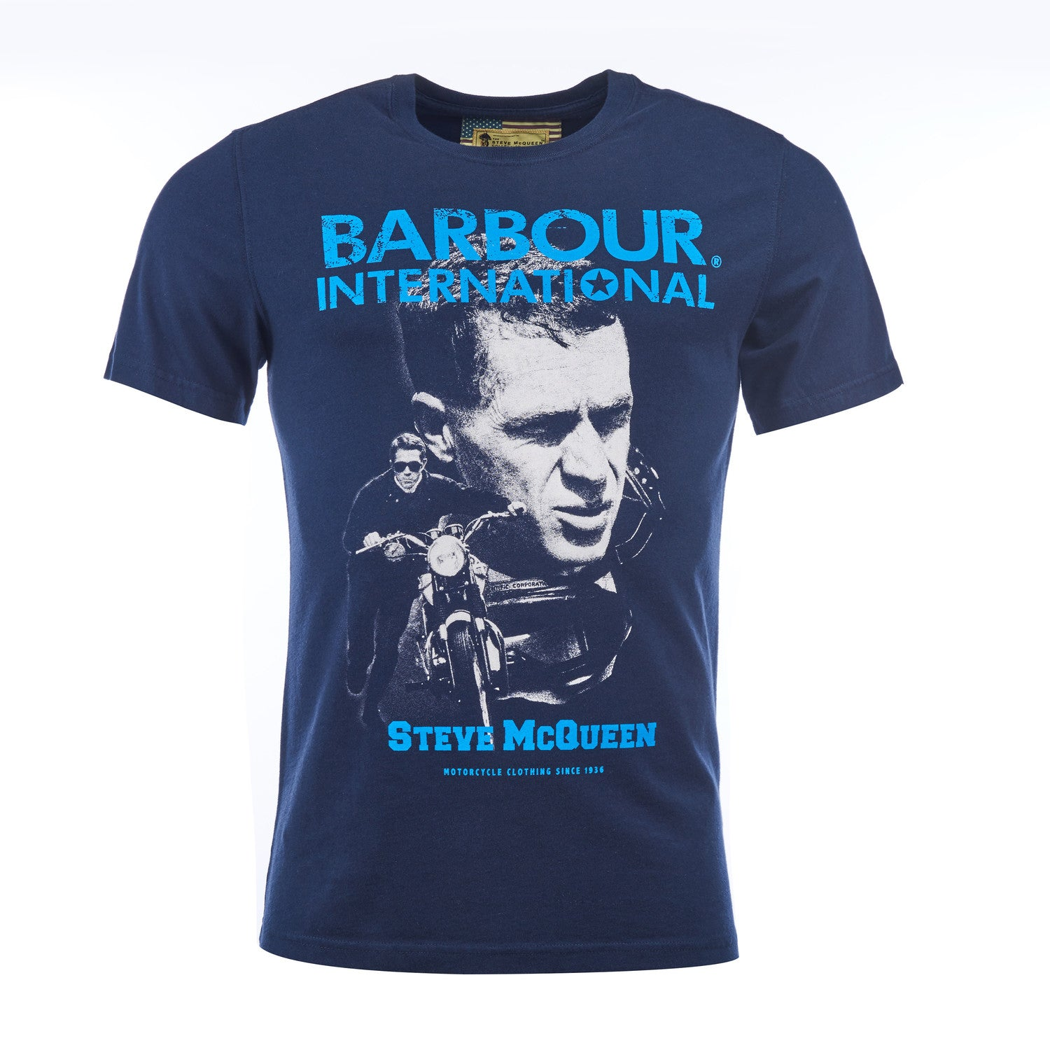 Barbour Steve McQueen Starting Line T-Shirt Navy