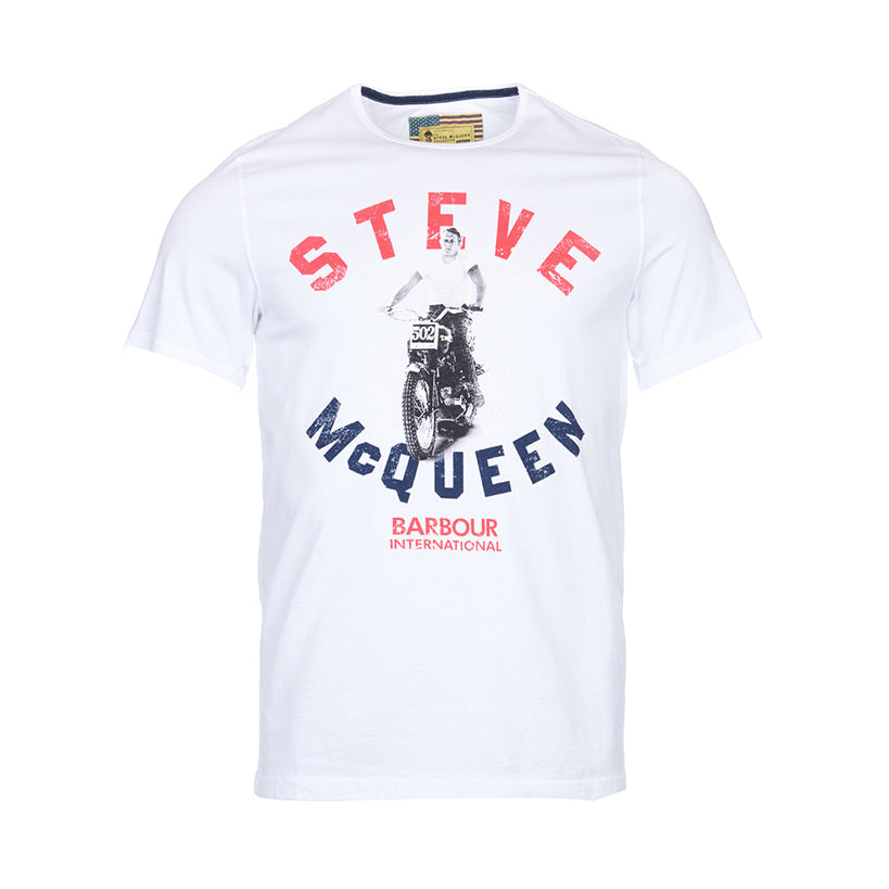 Barbour International Steve McQueen Leap T-shirt White