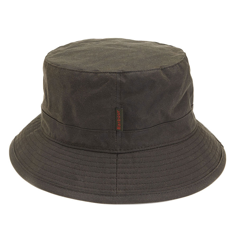Barbour Mens Wax Sports Bucket Hat Olive