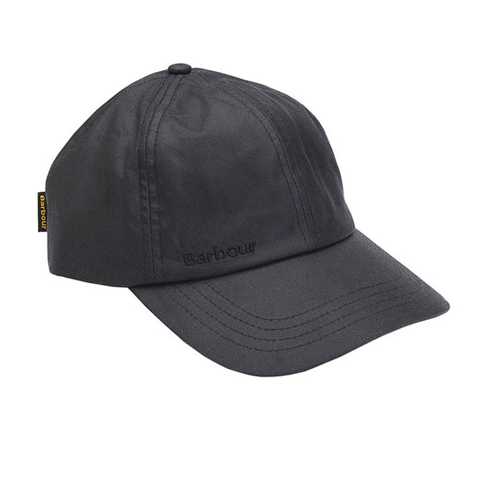 Barbour Mens Wax Sports Cap Black