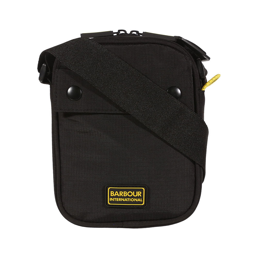 Barbour International Black Shoulder Pouch Bag
