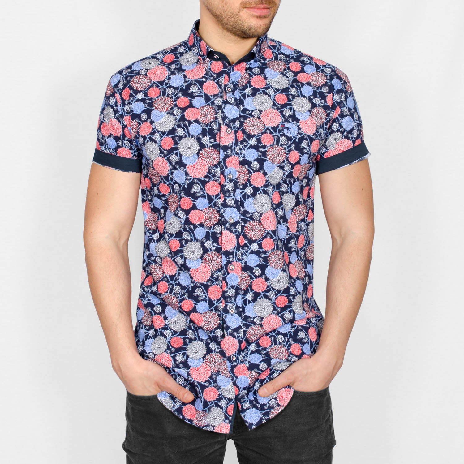 Bewley and Ritch Clover Floral Print Shirt