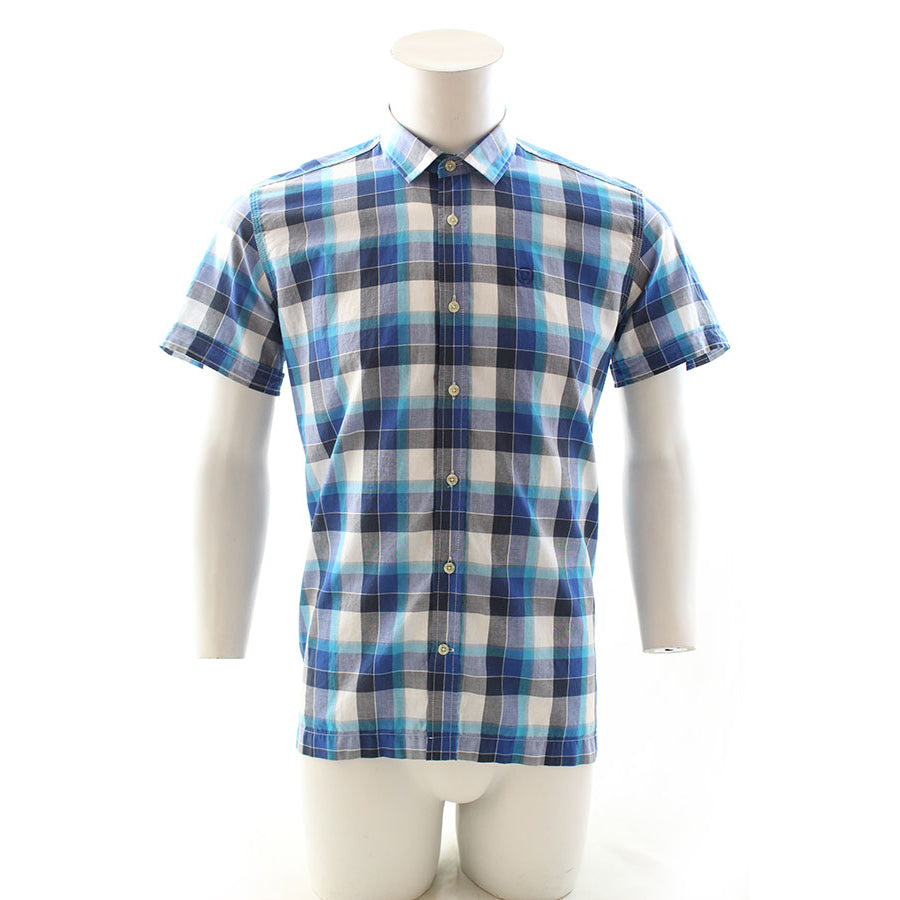 Duck and Cover Rebelo Shadow Check SS Shirt Twilight