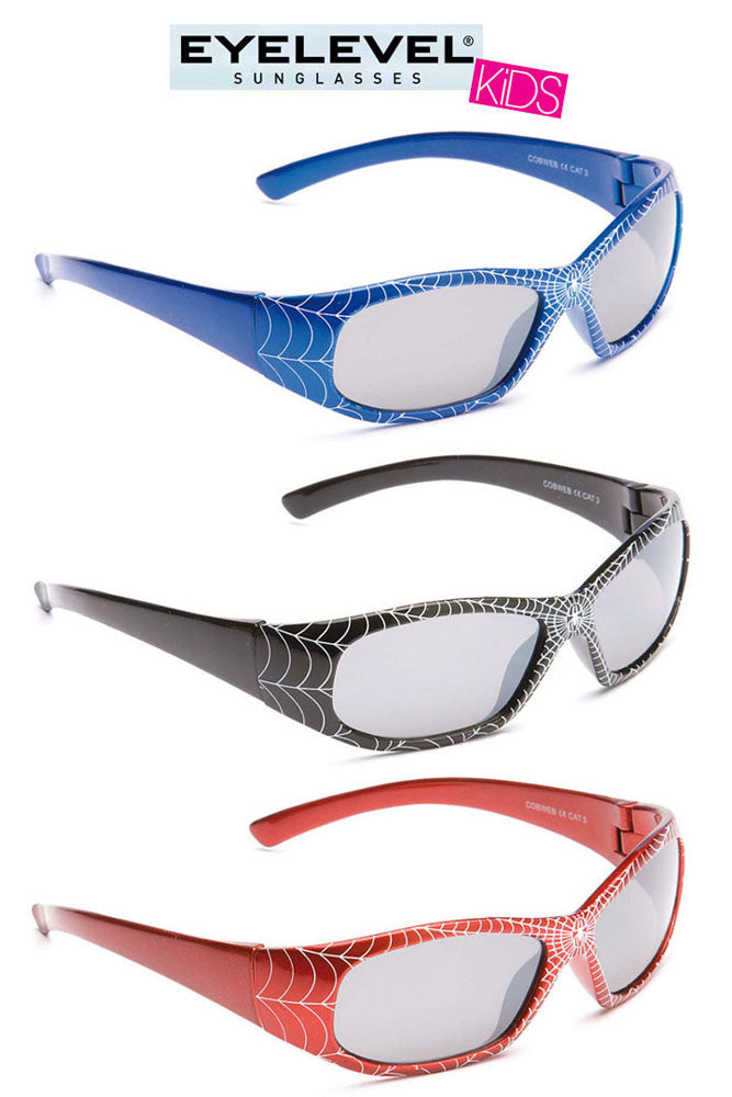 Eyelevel Kids Cobweb Sunglasses Blue, Black or Red