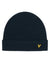 Lyle & Scott Racked Ribbed Beanie Dark Navy Desc
