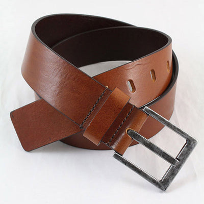 IBEX Of England Two Tone Full Grain Leather Belt Tan 40mm 2622