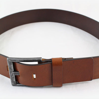 IBEX Of England Two Tone Full Grain Leather Belt Tan 40mm