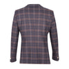 Guide London Italian Wool Overcheck Blazer Jacket Navy JK3279