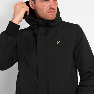 Lyle & Scott Bomber Hooded Jacket Jet Black