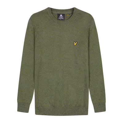 Lyle & Scott Mottled Crew Jumper Trek Green