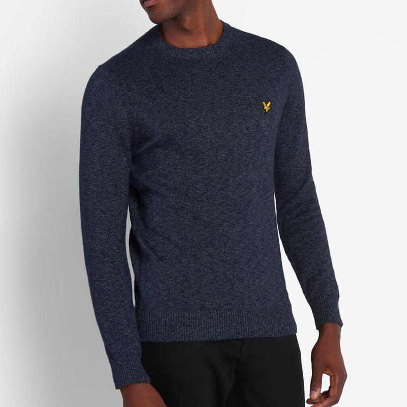 Lyle & Scott Mottled Crew Jumper Dark Navy