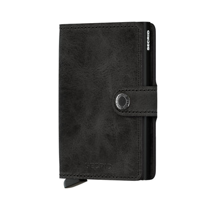 Secrid Miniwallet Vintage Black Leather Wallet