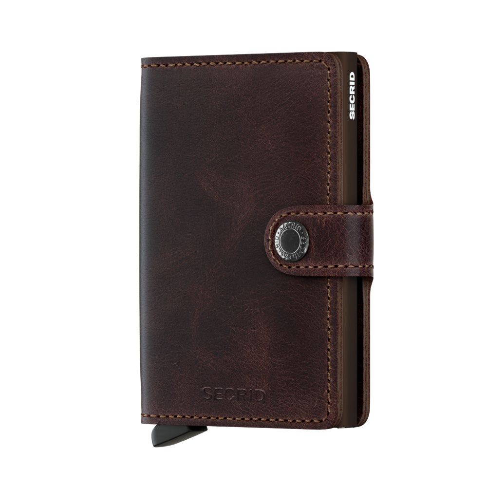 Secrid Miniwallet Vintage Chocolate Leather Wallet
