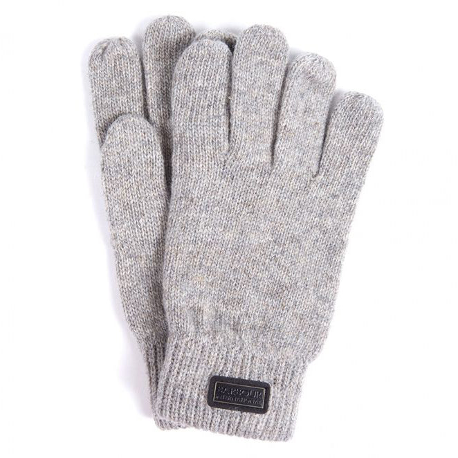 Barbour International Sensor Knitted Gloves Winter Grey