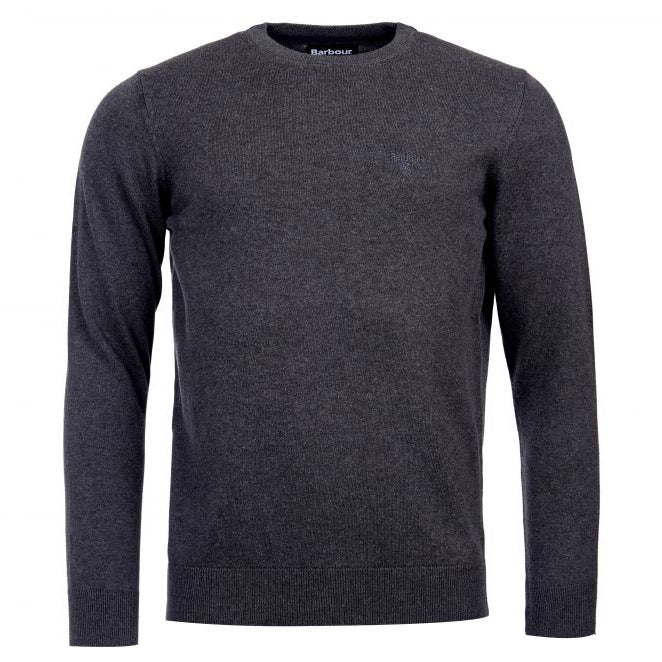 Barbour Pima Cotton Crew Jumper Charcoal