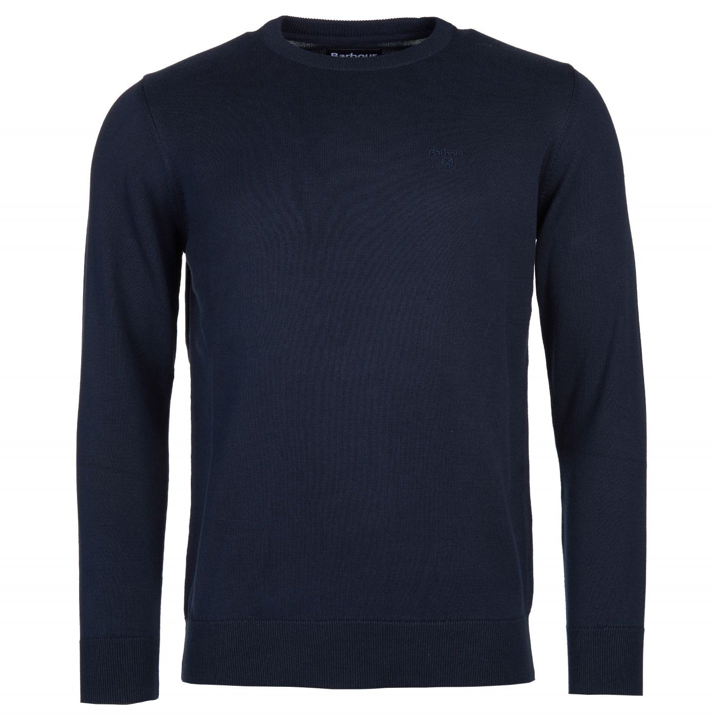 Barbour Pima Cotton Crew Jumper Navy