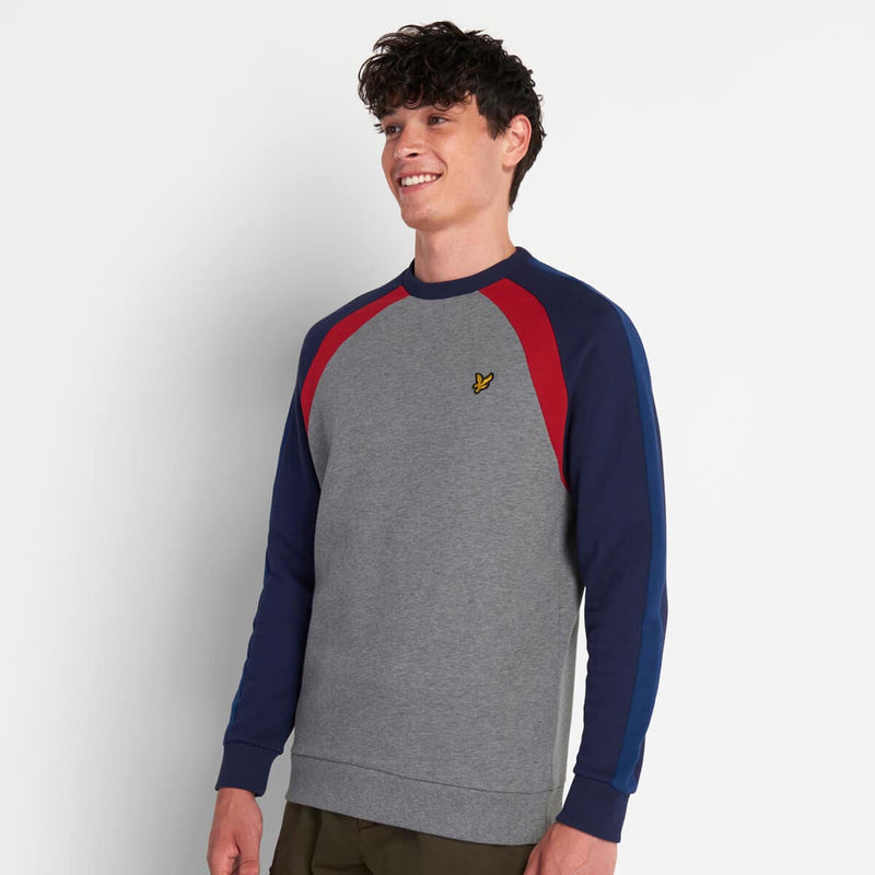 Lyle & Scott Three Panel Sweatshirt Mid Grey Marl