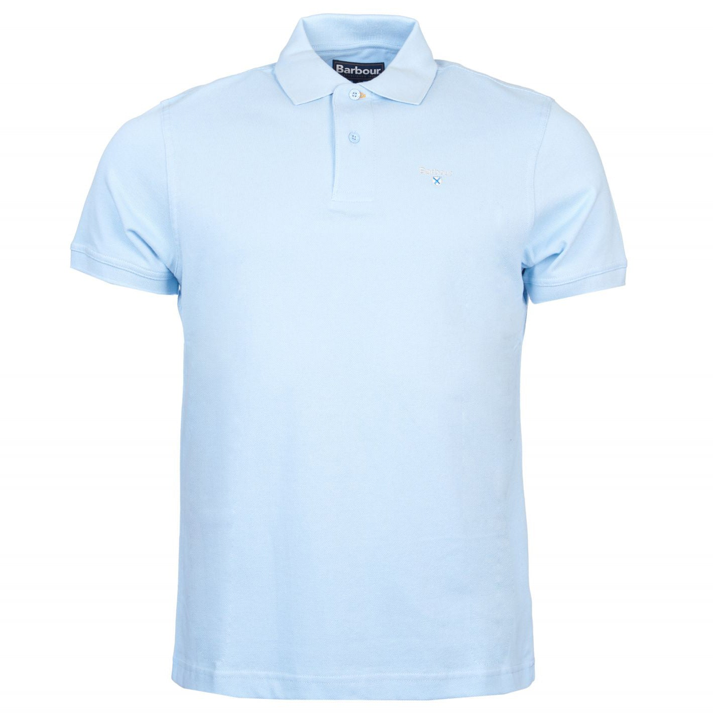 Barbour Sports Short Sleeve Polo Shirt Sky