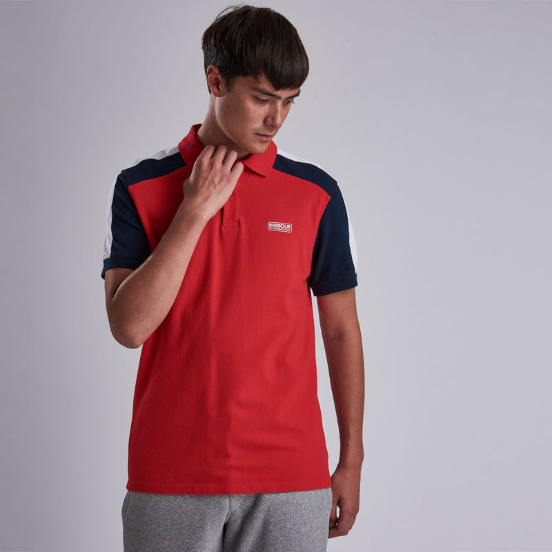 Barbour International Electro Polo Shirt Vibrant Red