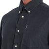 Barbour Cord 1 Tailored Long Sleeve Shirt Grey