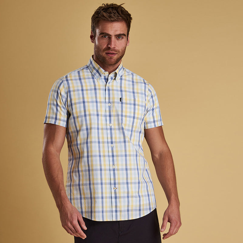Barbour Tattersall 2 Short Sleeve Shirt Lemon
