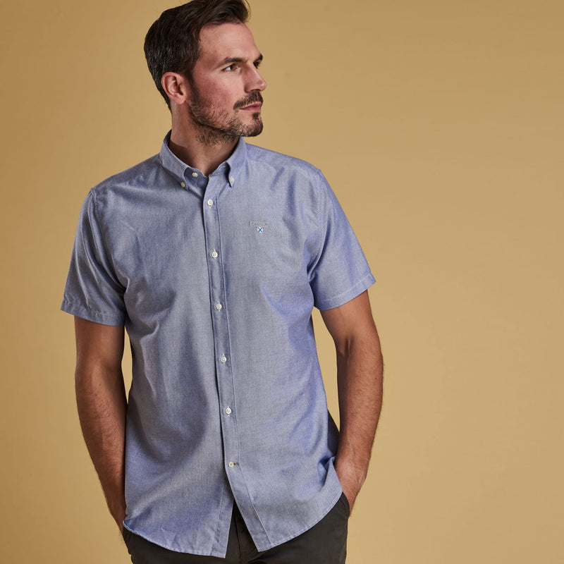 Barbour Oxford 3 Short Sleeve Shirt Indigo